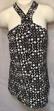 White House Black Market Tank/Cami Halter Top Strapless Abstract Slinky Sz XS