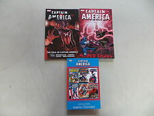 CAPTAIN AMERICA 3 COMIC TPB BOOK LOT TRIAL VS. THE RED SKULL INDEX MARVEL