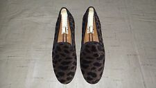 "SO CUTE! $450 Stubbs and Wootton Velvet ""LEOPARD"" Slippers Loafers Shoes"