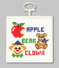 Counted Cross Stitch Kit ABC; Christmas Ornament!  Wall-Hanging!