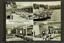 Naherholungszentrum Fockendorf mit Gaststätte Kreis Altenburg / DDR AK 4