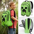 Minecraft Creeper Backpack School Boys Rucksack Waterproof Sports Shoulder Bags