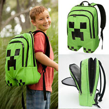 Minecraft Creeper Backpack School Boys Rucksack Waterproof Sports Shoulder Bags