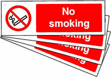 NO SMOKING SELF ADHESIVE STICKERS LABELS SIGNS X 10