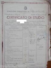 Certificato studio SANTO STEFANO DI CAMASTRA MESSINA 1939 Epoca fascista scuola