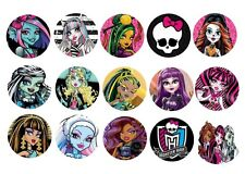 "30 Precut 1"" Monster High bottle cap Images for hair bow  craft and many more"
