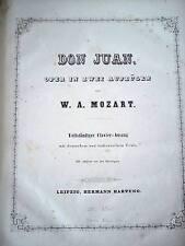 Noten MOZART Don Juan vollst. Klavierauszug + Text Piano Score Leipzig ca. 1860