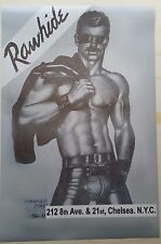 """POSTER -GAY INTEREST-RAWHIDE NYC LEGENDARY GAY LEATHER BAR TOM OF FINLAND 24x36"""""""