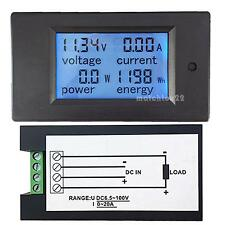 DC6.5~100V20A 4 in 1 LCD Digital Combo Panel Meter Volt Amp Power Watt Hour