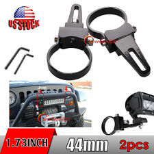 "2x 1.75"" 1 3/4"" 44mm Mount Bracket Bull Bar Led Work Light Roll Cage Tube Clamps"
