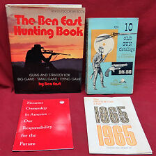 4 Book Lot-The Ben East Hunting Book/10 Old Gun Catalogs/2 Gun Manuals