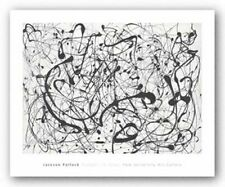 ABSTRACT ART PRINT Number 14: Gray Jackson Pollock 20.5x28
