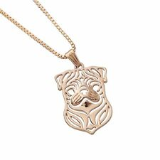 Pug Necklace Pendant 18 inch Chain Rose Gold Plated Pug Gift Necklace