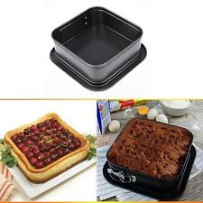 "6""X6"" Nonstick Square Cheesecake Cake Torte Quiche Springform Pan Baking Mold"