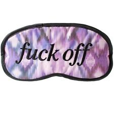Novelty Eye Mask - F**k Off Patterned sleep, joke blindfold  Holidaytravel gift
