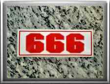 "Hells Angels support 81 Sticker Adhesivo"" 666"" Red & White"