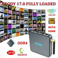 XGODY TV BOX 3+16GB DDR4 Android 6.0 Octa Core BB2 PRO HDMI 2.0 New 17.0 Loaded