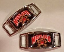 Lot Of 2 University Of Maryland TERRAPINS Shoelace Charms For Paracord Projects