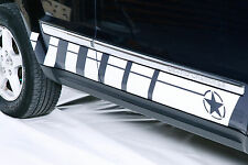Vinyl Decal Rocker Panel Race Stripes Wrap for Jeep Grand Cherokee 05-10 White