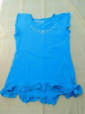 Girls Dreamin Out Loud By Selena Gomez Aqua Top Size M EUC Bling Accent at Neck