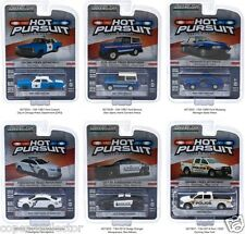 Greenlight 1/64 Hot Pursuit 16 Police Cars Set of 6 Michigan, Chicago, Corning +