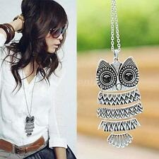 1pcs New Lady Women Vintage Silver Owl Pendant Necklace best Gift For XMAS OT8G