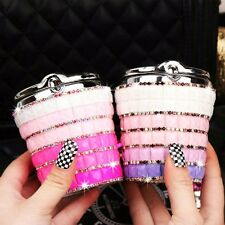 High Grade Diamond Bling Smokeless Car Ashtray Cylinder Cup Holder With Led Lamp