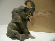 Sitting Baby Elephant Ornament Figurine Figure Gift Present