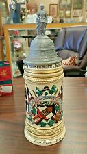 STUNNING GERMAN MILITARY REGIMENTAL STEIN - FANTASTIC COLORS