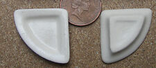 1:12 Scale 2 Cream Quarter Plates Doll House Miniature Ceramic Accessory C14