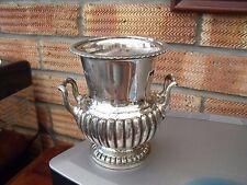 Antique 19thC plaqué argent urne ou vase marqué R.O ~ 722