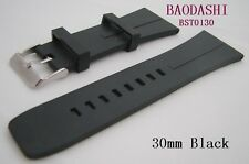 Watch Replacment Band Rubber Strap FitTag Microtimer Heuer Style 30mm Free Tool