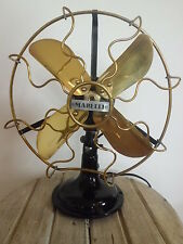 Antique Vintage Marelli 0.25 Electric Fan 10 inches revised