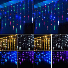 3M 96 LED Star Curtain Hanging String Fairy Lights Christmas Party Wedding Decor