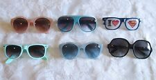 6 pairs Lot Women's Girl's Teen's Fashion Sunglasses variety Plastic Frames blue