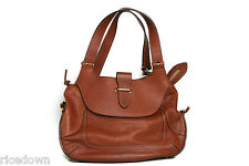 Authentic CHLOE Classic Marcie Medium Classic Satchel Bag Brown TAN Leather