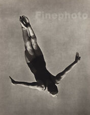 1936 Vintage 11x14 OLYMPICS Germany Male DIVING Dive Photo Gravure By PAUL WOLFF