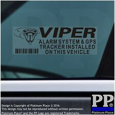 5x VIPER GPS Tracking Device-Alarm Security Stickers-BLACK-Tracker Warning Signs