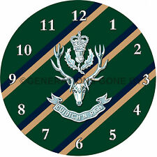QUEEN'S OWN HIGHLANDERS GLASS WALL CLOCK