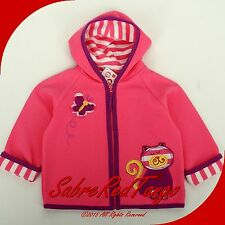 NWT HANNA ANDERSSON QUILTIE JACKET BELLA PINK KITTY CAT 80 10-24 M