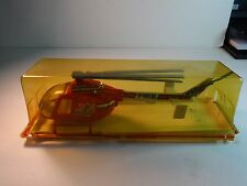 Guisval Spain mfg. Large Metal Red Fire Dept (Bomberos) Helicopter w/ box