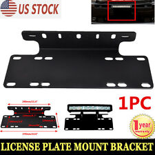 Front Bumper License Plate Mount Bracket Holder LED Light Bar Offroad Jeep Truck
