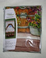 """COUNTRY GARDEN #1525 Embellished Tier & Swag Curtain Set for 36"""" Windows - Drape"""