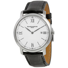 Baume and Mercier Classima Executives White Dial Stainless Steel Mens Watch