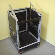 12/10HE Winkelrack Kombicase L-Rack DJ-Rack DJ-Case All-In-One-Rack m Rollen NEU
