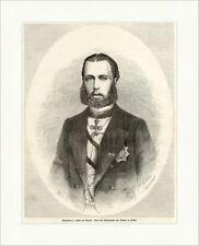 Maximilian I., Kaiser von Mexico Ghemar von Österreich K&K Holzstich E 5340