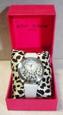 BETSY JOHNSON WOMEN'S BJ2121 AQUA DOLL COLLECTION SATIN WATCH SILVER BOW TIES