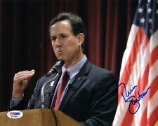 RICK SANTORUM SIGNED AUTOGRAPHED 8x10 PHOTO 2016 PRESIDENTIAL CANDIDATE PSA/DNA