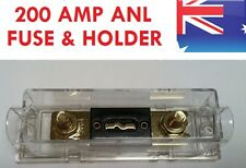 200A FUSE & HOLDER - FOR DUAL BATTERY SYSTEM LINK UP & CAR AUDIO 200AMP ANL