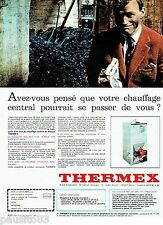 PUBLICITE ADVERTISING 126  1966  chaudière chauffage central Thermex